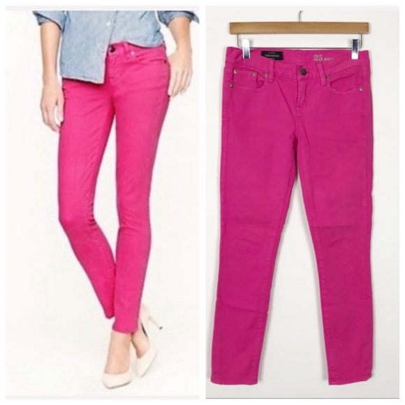 J. CREW Pink Toothpick Skinny Ankle Jeans 25
